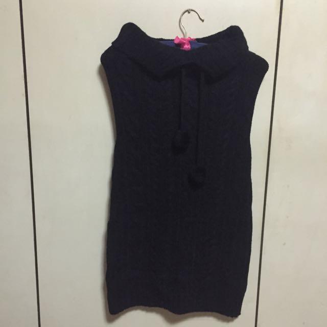 全新 黑色平口針織洋裝