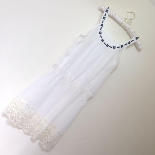 29🍀全新 東京著衣 純白蕾絲洋裝