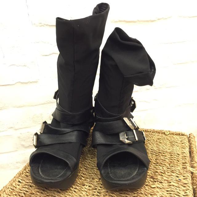 網紗 個性 鞋 39 黑色