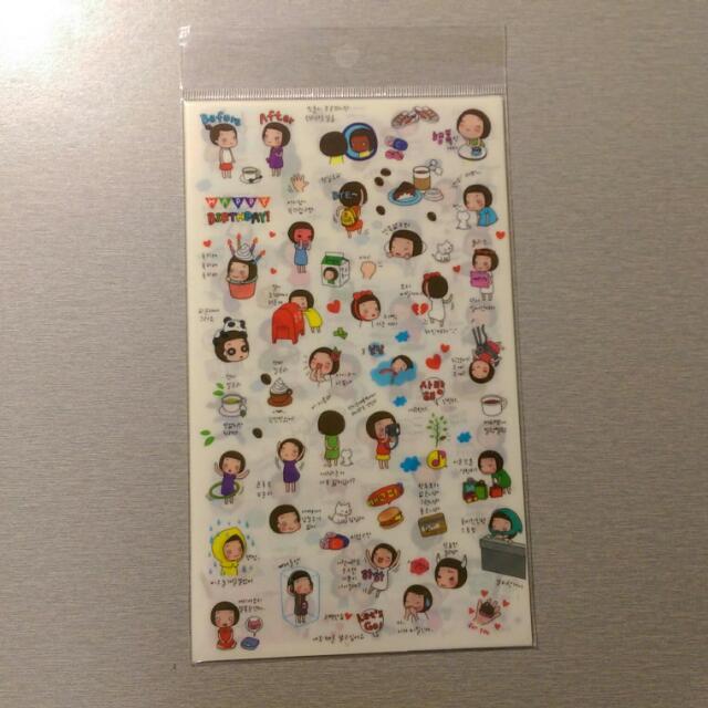 🔅免運🔅 韓國 丸子頭女孩的生活趣事 可愛貼紙