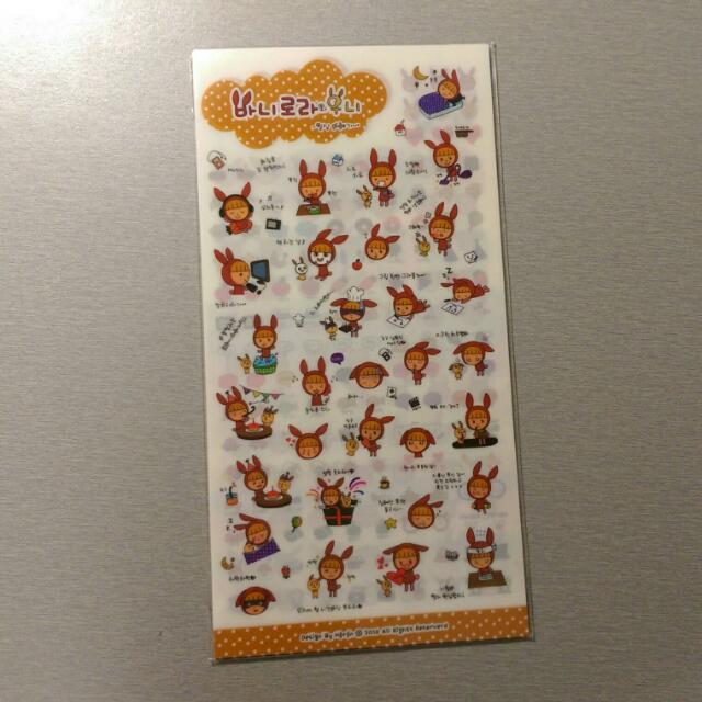 🔅免運🔅 韓國 小紅兔的生活趣事 可愛逗趣貼紙