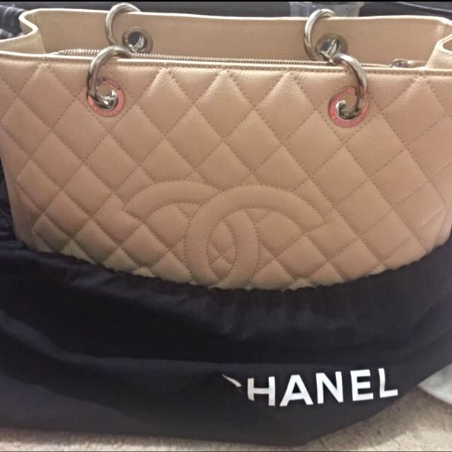Authentic Chanel Shopping Tote