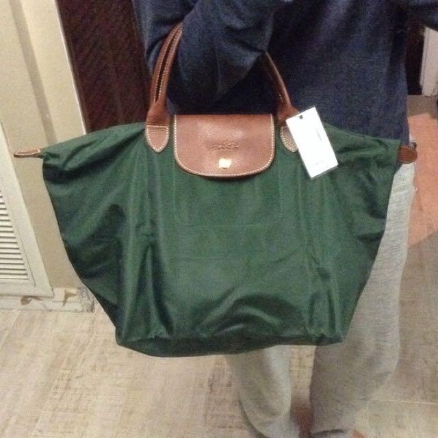 Authentic Longchamp Dark Green Le Pliage Handbag Women S Fashion On Carou
