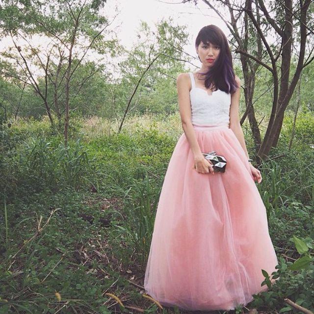 551435436 BNIB VGY Vaingloriousyou Auriele Ballerina Tulle Mesh Maxi Skirt, In  Cinderella Blue, Size S, Women's Fashion on Carousell