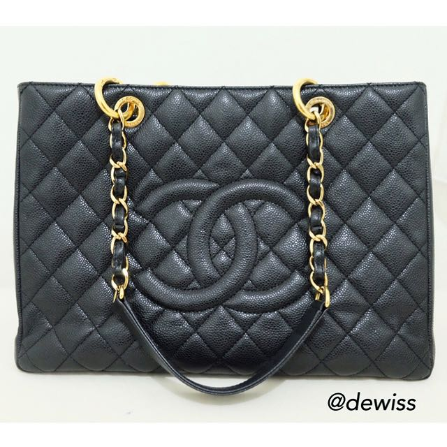 Chanel GST in Caviar - Gold Hardware