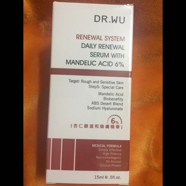 DR.WU杏仁酸煥膚精華6%15ml