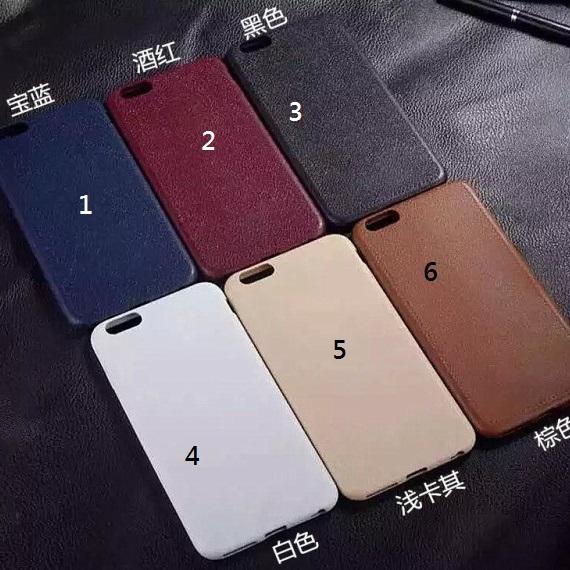 iphone 日韓簡約 無印良品風 素色皮革紋手機殼