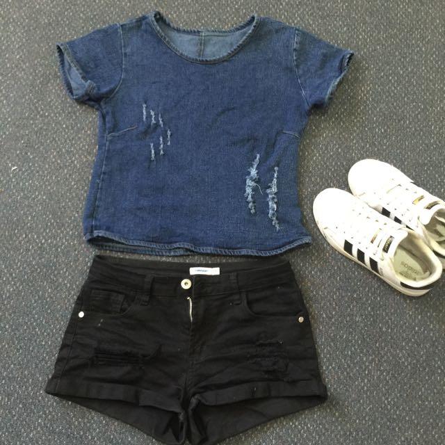 Jean T-Shirt Size 6