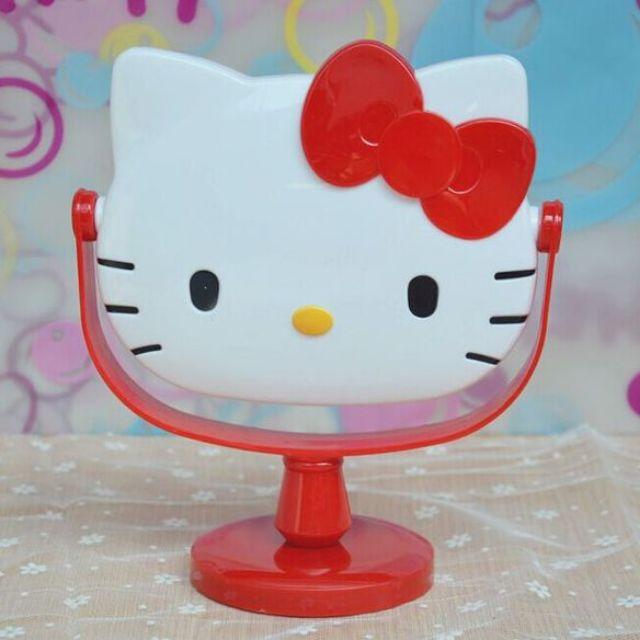 【現貨】KITTY可愛梳妝鏡台可旋轉