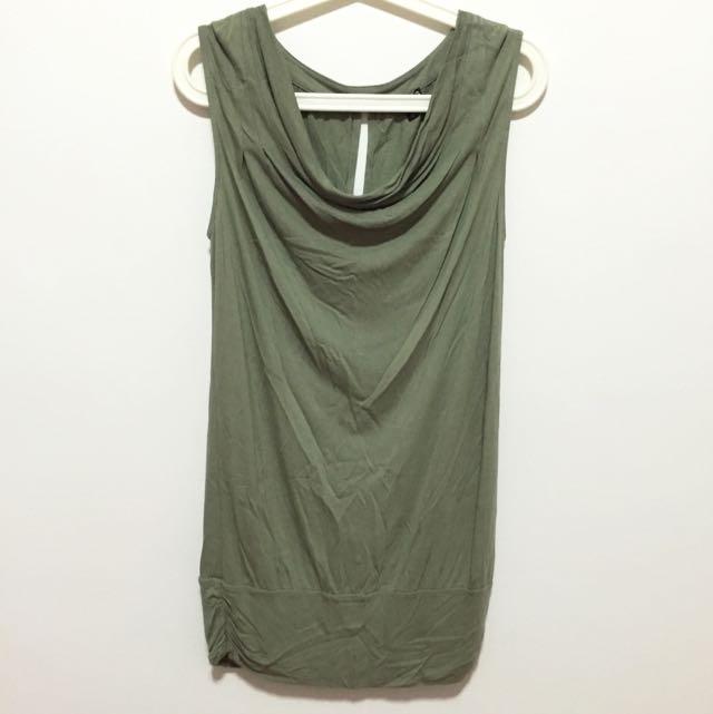 Olive Green Top/Dress