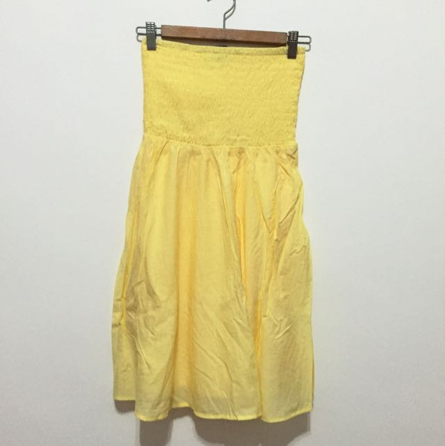 Pastel Yellow Tube Dress