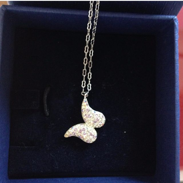 Swarovski butterfly natural pendant