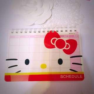 Hello Kitty 全新 行事曆 日誌 2016