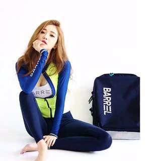 ☀Chi's shop~☀ 2016新款 韓版 長袖【拉鍊四件式】衝浪泳衣BIKINI比基尼 溫泉泳衣 兩件式 接急單