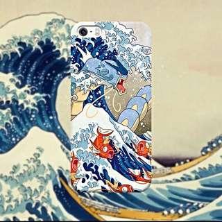 和風暴鯉龍浮世繪手機殼 磨砂質感 軟殼iphone6/6s/6(s)plus