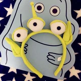 全新轉賣 正版 迪士尼樂園代購 三眼仔 髮箍 慶生 搞怪 派對 鬼鬼 吳映潔 三眼怪 玩具總動員