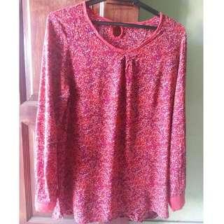 Cheetah Ladies fuschia blouse