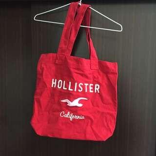 朋友送Hollister紅色肩背手提包✨