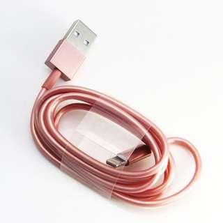 WG Apple高職感 原廠晶片玫瑰金Lightning充電線