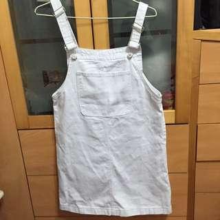 《全新》白色吊帶裙