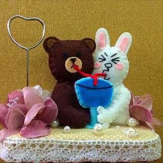 Line熊大兔兔 手工名片夾