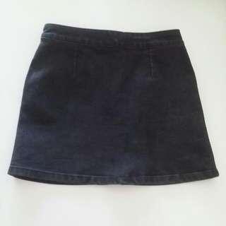dotti-Black JEANS skirt