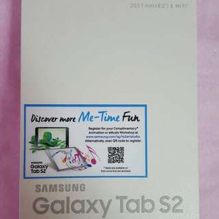 "Samsung Galaxy Tab S2 8"" 32Gb Gold (WiFi) w/ Book Cover (New All Sealed)"