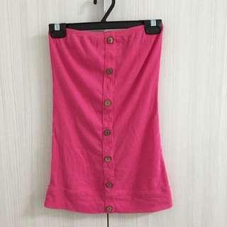 粉紅平口背心