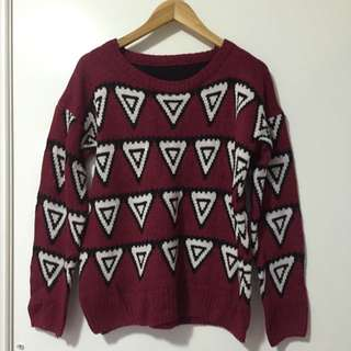 Red& Triangle Knit