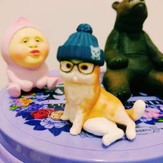 出清 絕版 扭蛋 轉蛋 帽子貓 Bandai 二代
