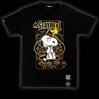 ♠️ Stayreal Snoopy開運T  黑標M號