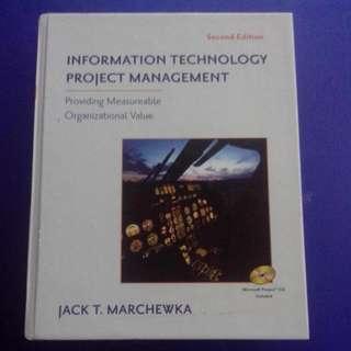 Information Technology Project Management  - Providing Measurable Organizational Value By Jack T. Marchewka