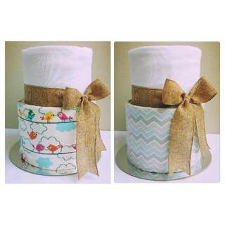 2-Tier Nappy Cake Design