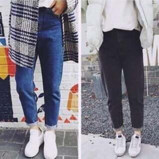 預購🌹韓國、率性牛仔寬褲