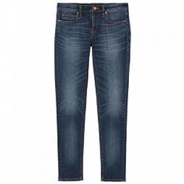 <全新> 無印良品   女裝有機棉混彈性丹寧窄版褲