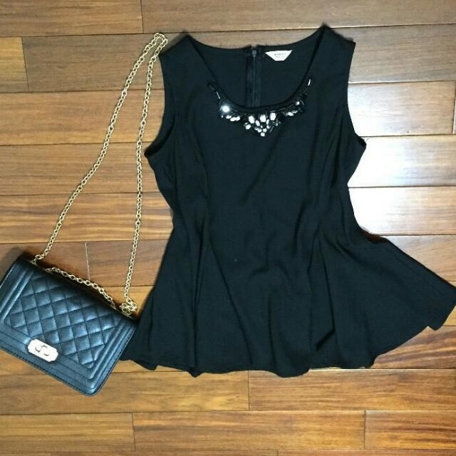 黑色氣質洋裝上衣