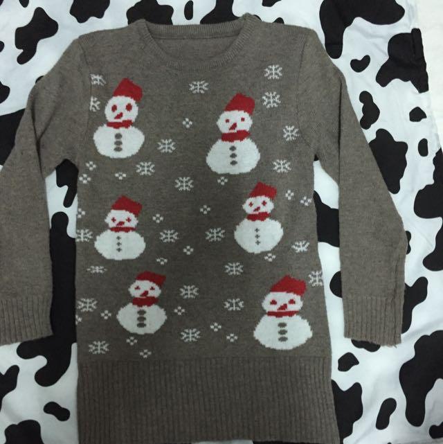 雪人毛線衣