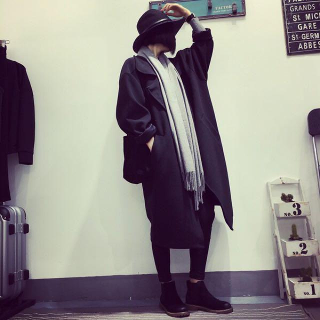 預購🌹韓國、翻領大衣外套
