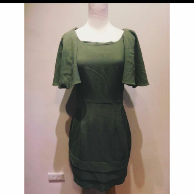 【全新】綠色洋裝