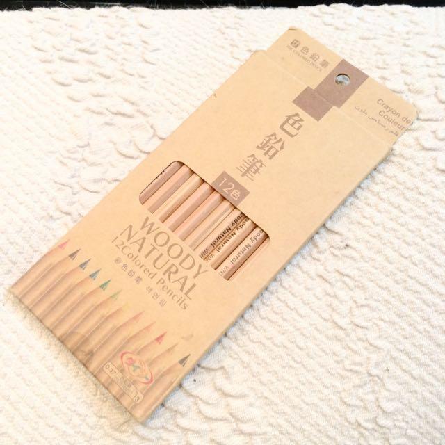 🔺免運 [ 二手 ] 12色色鉛筆