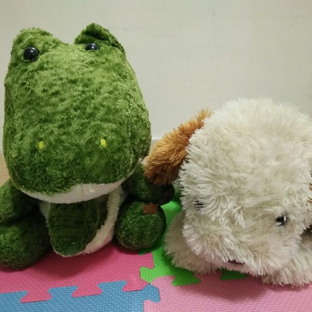 鱷魚 狗 娃娃 布偶