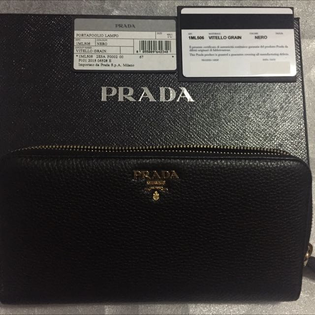 big sale 3b593 e2491 Brand New Prada 1ML506 Vitello Grain, Luxury on Carousell