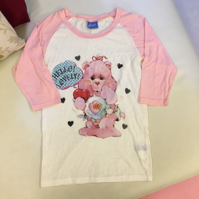 全新Care Bears 正版長袖T恤~少見款