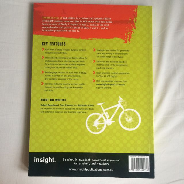 Insight English in Year 11 2nd Edition, Textbooks on Carousell