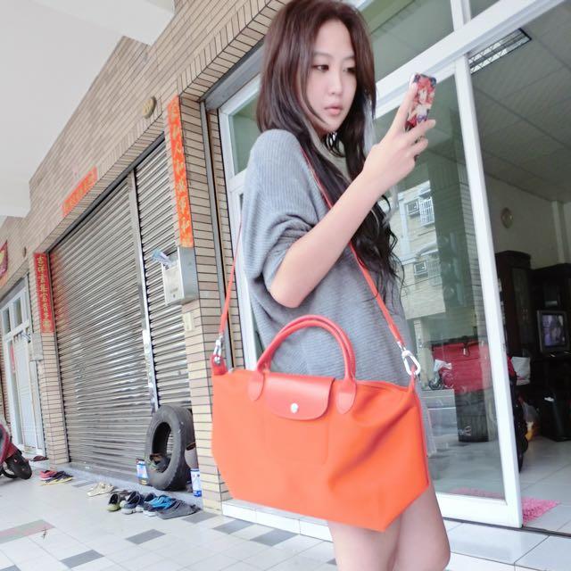 Longchamp Neo款 橘色 尺寸s/m