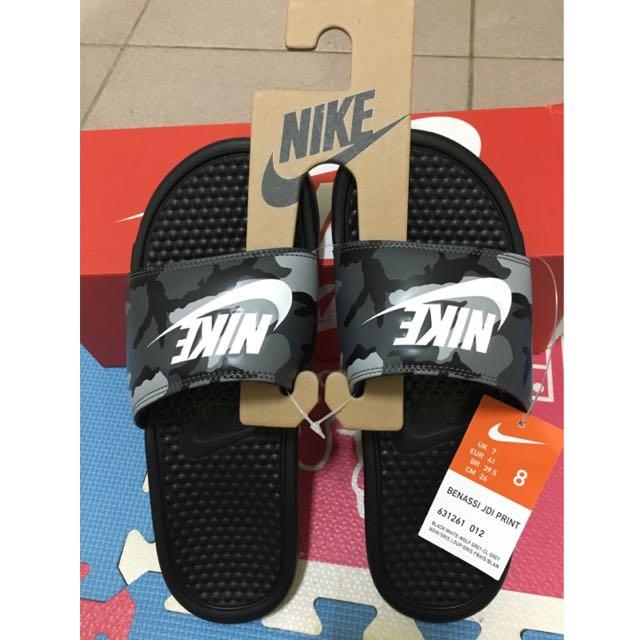 Nike迷彩拖鞋(保留)