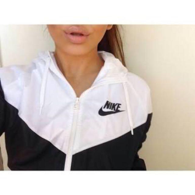 Nike White Windbreaker