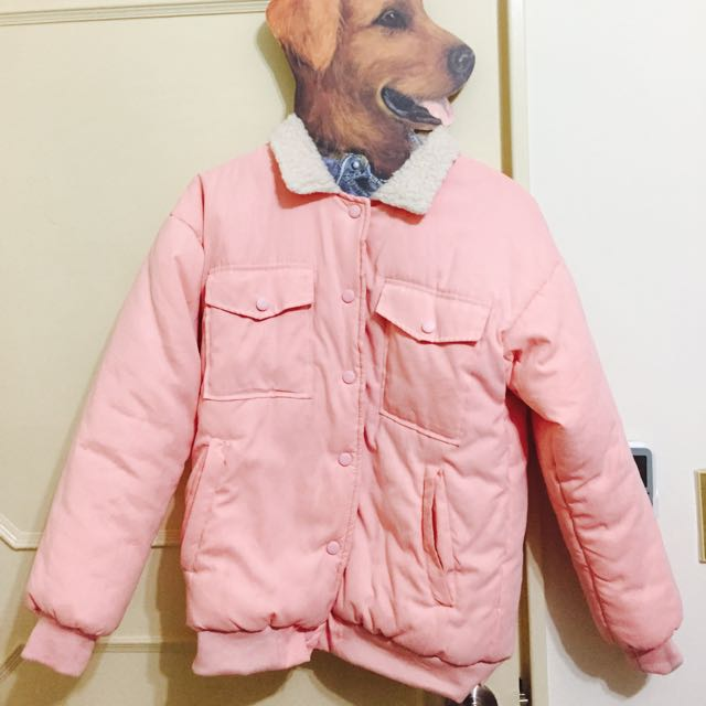 planet 行星 粉紅色羊羔毛夾克