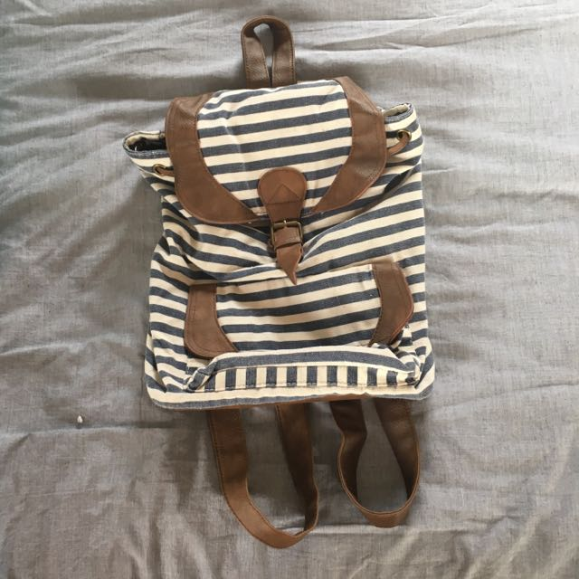 Stripped Backpack