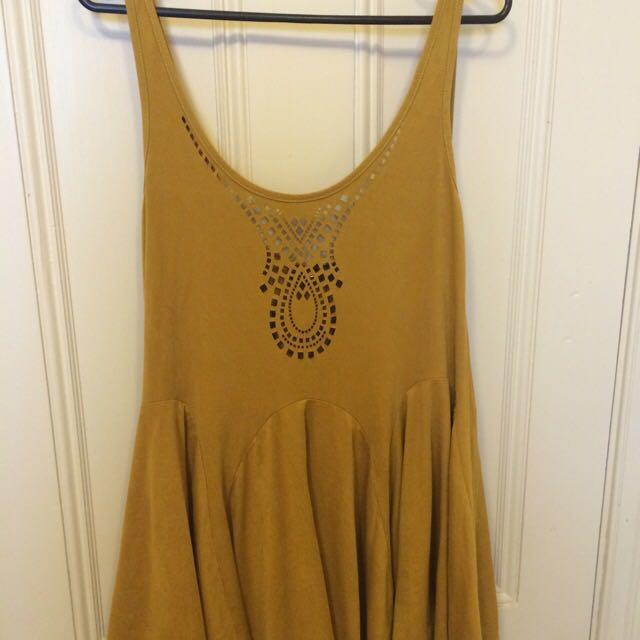 Suede-like Dress